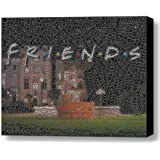 Abstract FRIENDS TV Show Ross Rachel Joey Chandler Phoebe Monica main characters Text Mosaic Framed 9x11 Inch Limited Edition with COA
