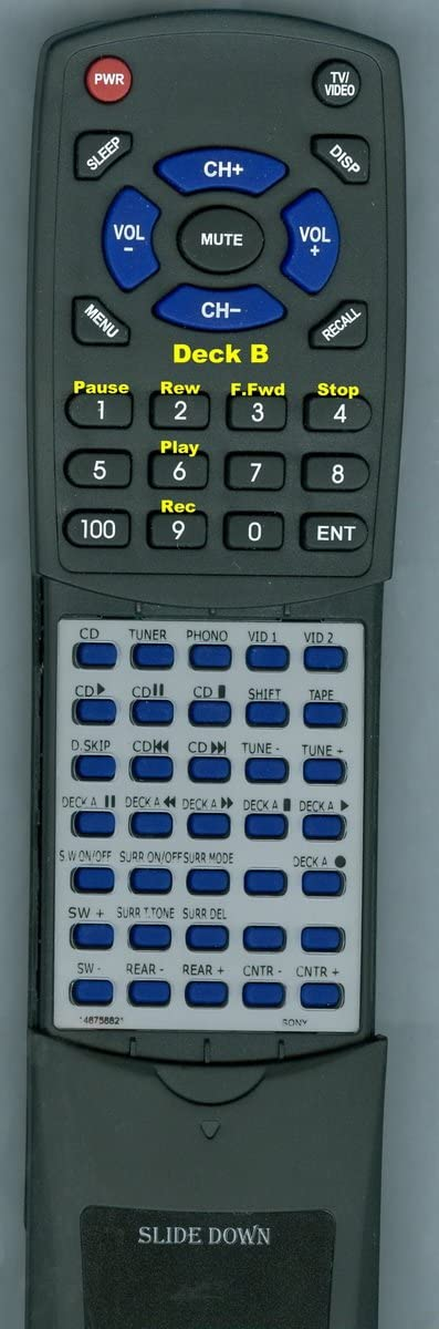 HCD541 RMU451 Replacement Remote Control for Sony HCD451 146758821 146758811