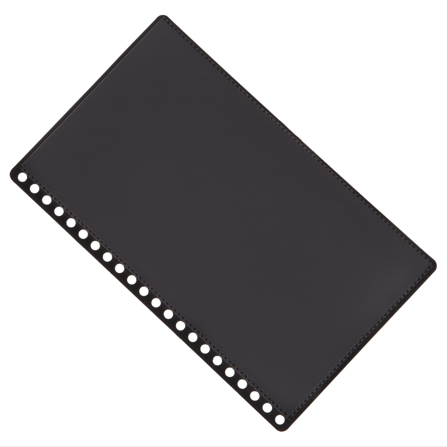 22 Hole Aerobind QRH Cover - 6.83 Inch Wide Black Rigid Pilot Checklist Cover With Attached Pockets - 100 Per Pack