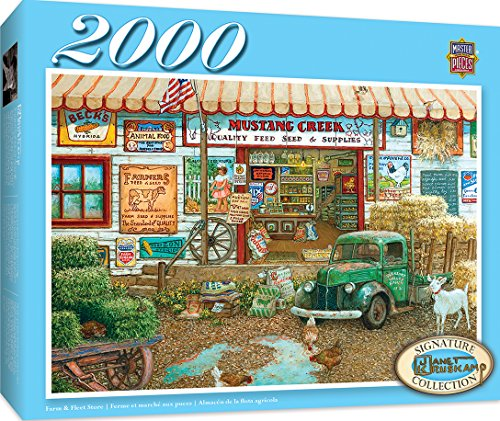 Masterpieces Signature Farm   Fleet Store   Vintage General Store 2000 Piece Jigsaw Puzzle By Janet Kruskamp