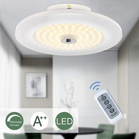 LED Lámpara de techo, 18W Lámpara de techo Iluminación de techo para oficina 3000K, Lámpara Salón Dormitorio, Focos de techo, con mando a distancia