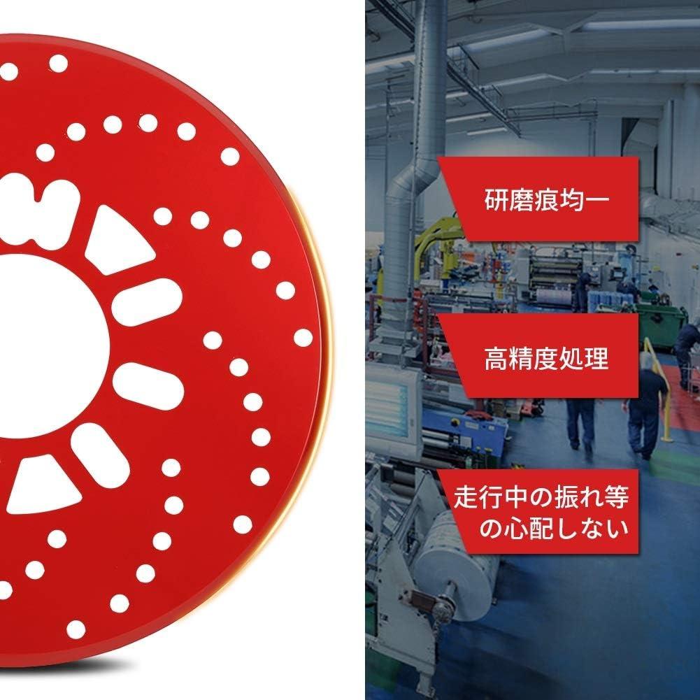 Freno de disco silencioso 1 juego Auto aluminio Freno de disco Rotor Recortar Cubiertas decorativas Retrofit 26cm Rojo