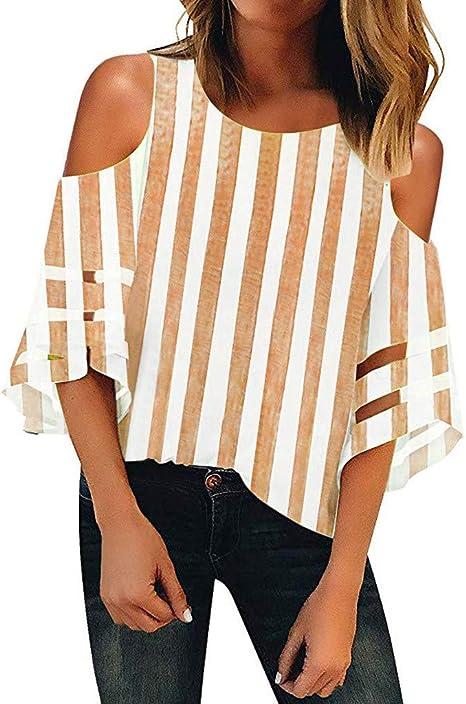 Keepwin ¡Nueva! Camiseta Basica Mujer Casual Sudadera Manga Larga Primavera Cuello Redondo Blusa Fiesta Mujer Carnaval Camisa Oficina Suelto Verano Camiseta Mujer de Manga (Amarillo,XXL): Amazon.es: Deportes y aire libre