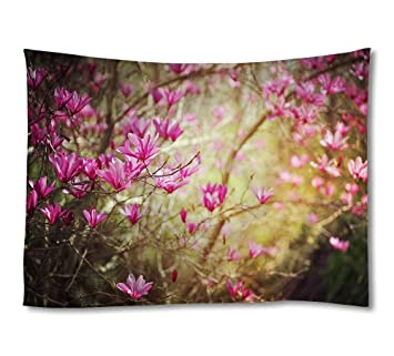 Amazon Dark Pink Spring Flower Art Print Tapestrieshome Wall