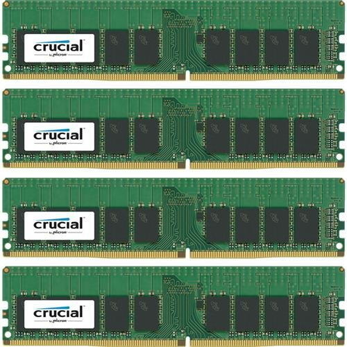 - Crucial Technology 64GB (4x 16GB) 288-Pin EUDIMM DDR4 (PC4-19200) Server Memory Module Kit, CL=17, Unbuffered, 2400 MT/S Speed, ECC, 1.2V, Dual Rank, x8 Based, 2048Meg x 72