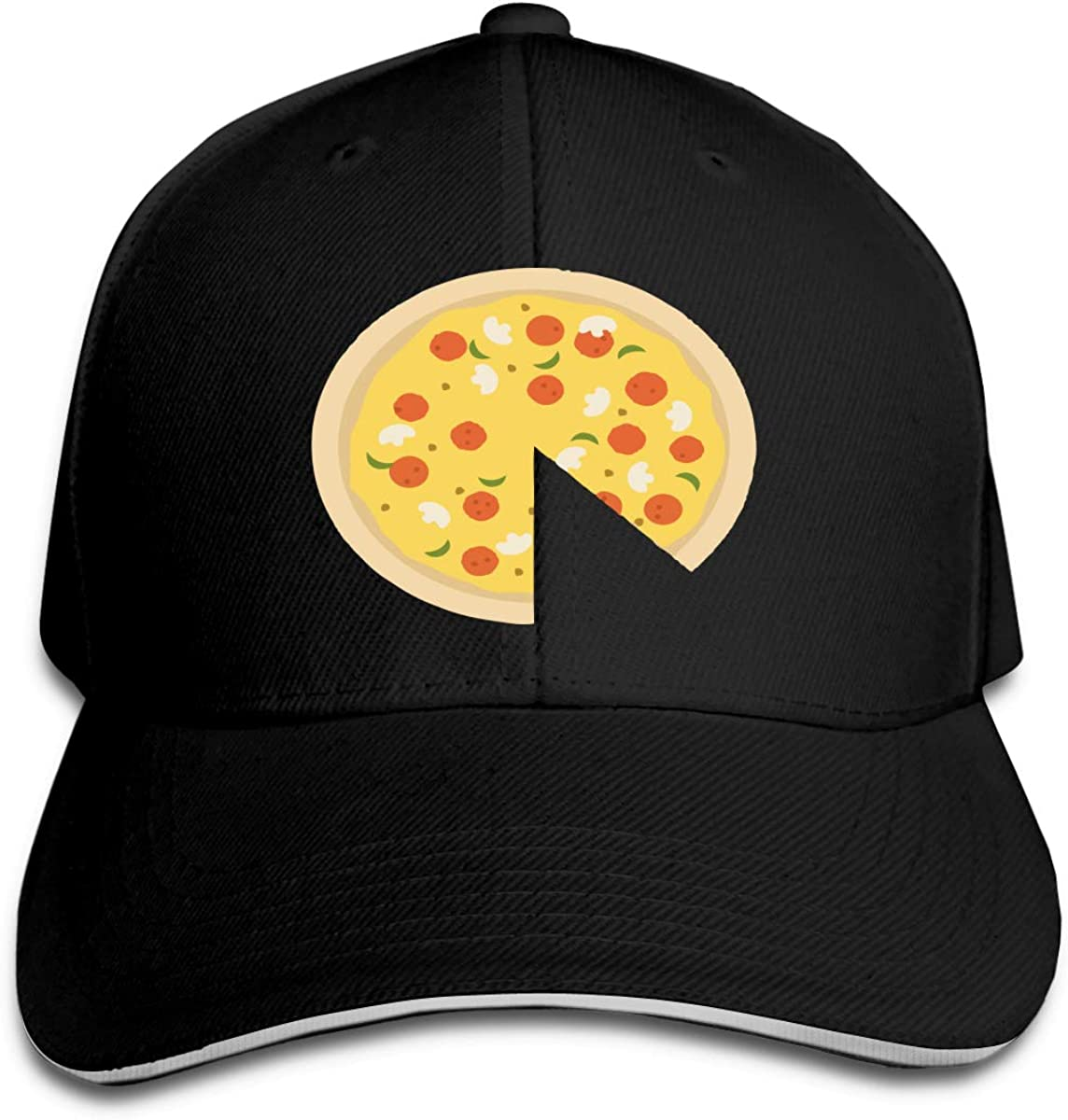 Pizza Piece Outdoor Snapback Sandwich Cap Adjustable Baseball Hat Dad Hat