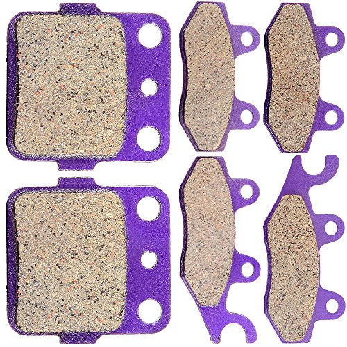 CCIYU Front and Rear Carbon Fiber Brake Pads Motorcycle Motorbike Replacement Brake Pads Fit 2004 2005 Yamaha YFZ450