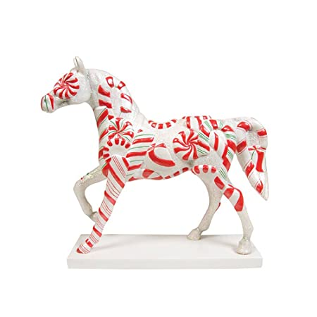 Enesco Trail of Painted Ponies Peppermint Twist Pony Figurine 6.88-Inch