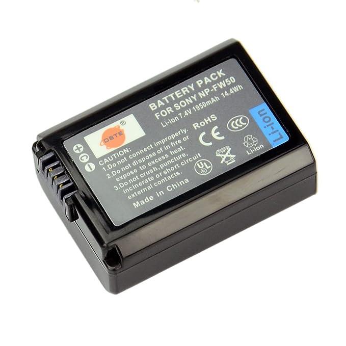 Amazon.com: NP-FW50 batería recargable de Li-ion + cargador ...