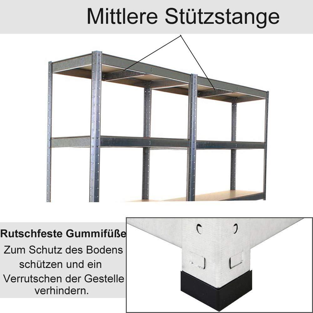 MDF-Platten Regal Steckregal Garagenregal Kellerregal Werkstattregal Verzinkt // 170x75x30cm//875KG Lagerregal Metall Schwerlastregal mit 5 b/öden