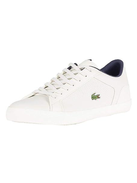 LACOSTE Lerond 418 1 Zapatillas Moda Hombres Blanco - 45 - Zapatillas Bajas: Amazon.es: Zapatos y complementos