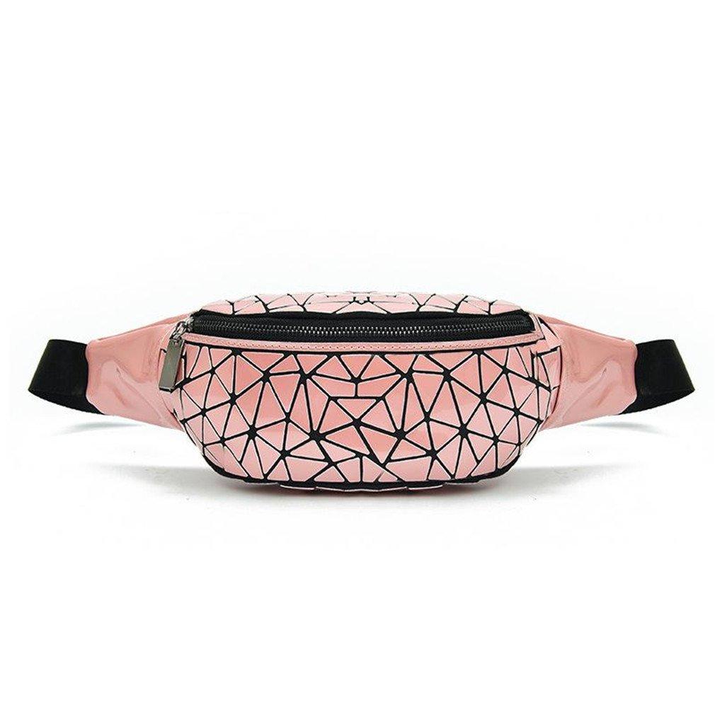kingsamal Geometry Fanny Pack Waist Bags Women Waist Belt Bag Shoulder Bags 3Waist Packs