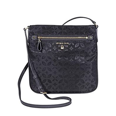 c6143636a040 MICHAEL Michael Kors Kelsey Large Floral Nylon Crossbody, Color 001 Black:  Handbags: Amazon.com