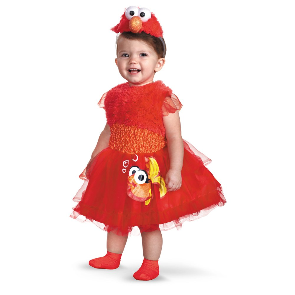 Brand New Sesame Street Frilly Elmo Toddler//Child Costume