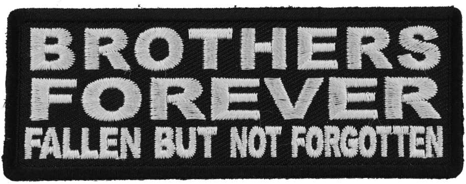 Rocker Patches Brothers Forever Black /& White Rocker Patch