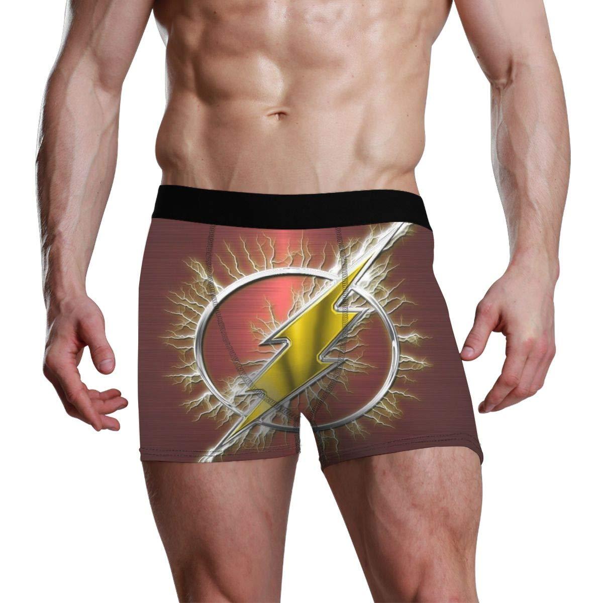 OPKSII The Flash Man Boxer Briefs Mens Underwear Pack Seamless Comfort Soft