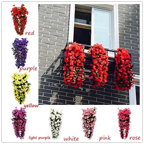Vorcool 4petals Kunstlich Hangende Blumen Blauregen Hangende