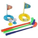 Flormoon Plastic Golf Set Kids Toy Outdoor Summer Garden Colorful Golf Toy Set