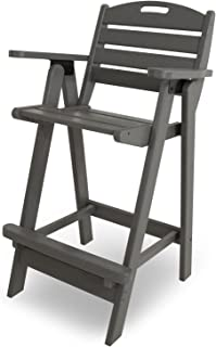 product image for POLYWOOD NCB46GY Nautical Bar Chair, Slate Grey