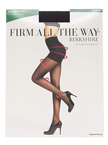 c5a538ff282ac Berkshire Women's Firm All The Way The Skinny Pantyhose 5050, Black, ...