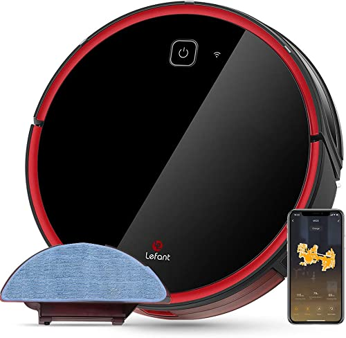 Proscenic M7 Pro LDS Robot Vacuum Cleaner, Laser Navigation, 2600Pa Powerful Suction, APP Alexa Control, Multi Mapping, Ideal for Pets Hair, Carpets and Hard Floors, Black