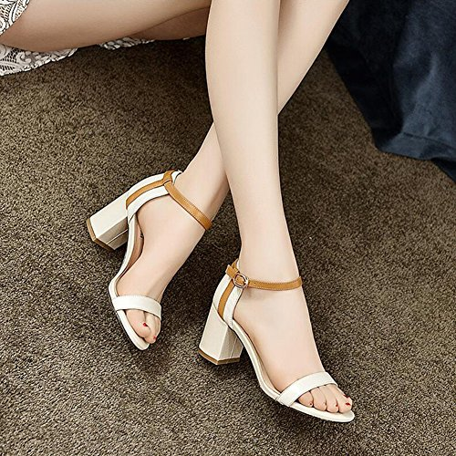 Dating Size Open EU37 5 5 CJC Women T1 T2 Color Ladies Peep Sandals UK4 Party College toe toe CHqz7w7