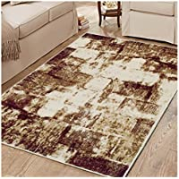 Superior Distressed Film Collection Area Rug, 8mm Pile Height with Jute Backing,  Abstract Vintage Distressed Pattern, Fashionable and Affordable Woven Rugs, 27 x 8 Runner