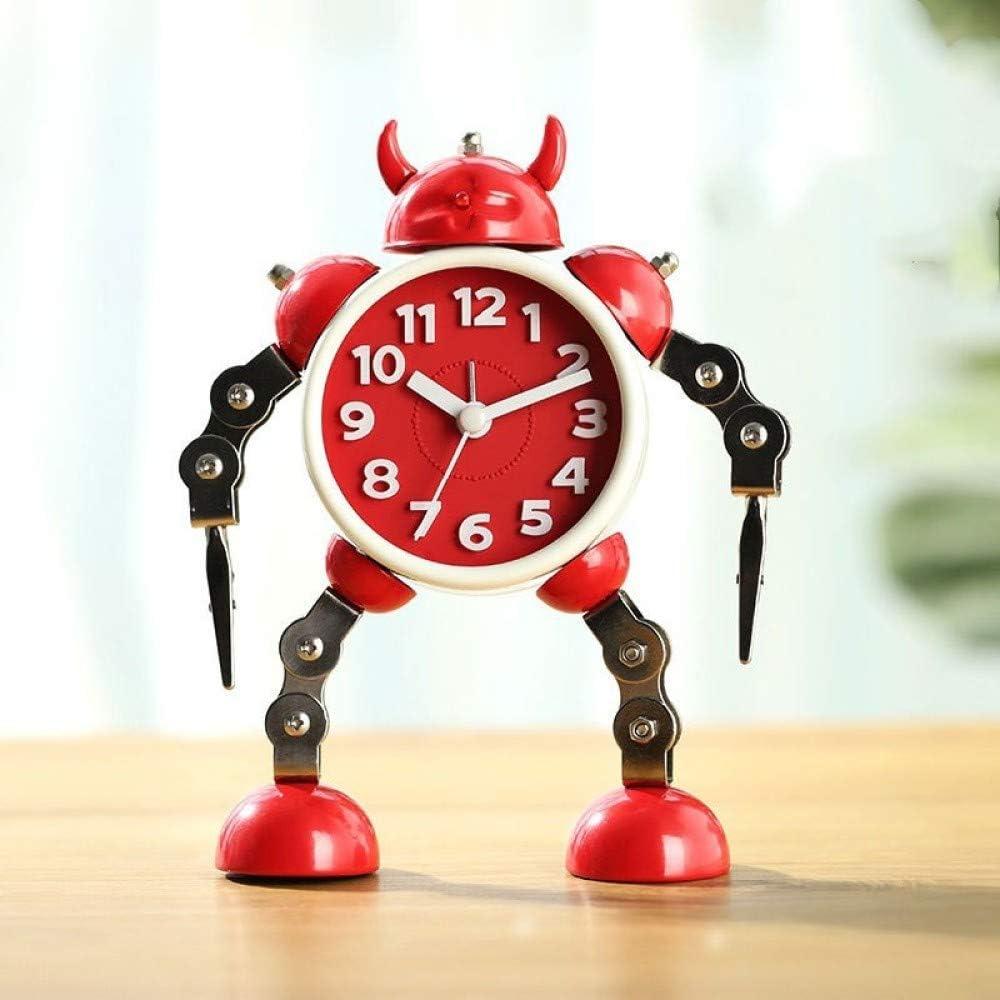 MYYXGS Reloj De Mesa Reloj Deformado Reloj con Forma De Robot Reloj Infantil para Estudiantes Reloj Despertador Robot De Metal De Dibujos Animados: Amazon.es: Hogar