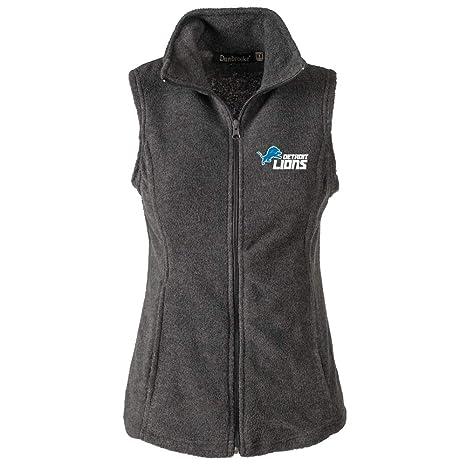 4b4031ba NFL Detroit Lions Womens Houston Ladies Fleece Vest, Grey, Small