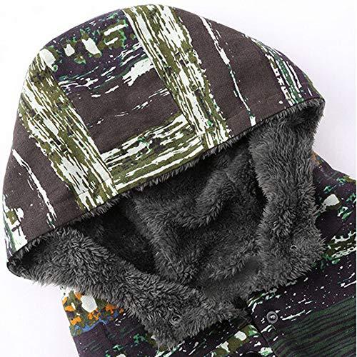Multicolore Ethnique Hiver Magiyard Grande Vintage Manteau Femme Manteau en Femme Manteau Manteau Taille Manteau à glissière Polaire Épais qHATpcqwz