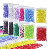 OPount 12 Pack Colorful Fishbowl Beads for Crunchy Slime 12.7 Ounces Plastic Vase Filler Beads Fish Bowl Beads for Slime Making, Art DIY Craft