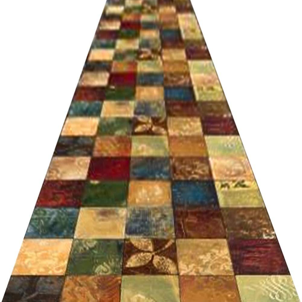 ZENGAI 廊下のカーペット ランナー ラグ 廊下用ランナー敷物 3D 退色防止 丈夫 カーペット リビングレストラン 勉強部屋 、 厚さ:7ミリメートル (色 : A, サイズ さいず : 1.6x6m) 1.6x6m A B07NZHRM3M