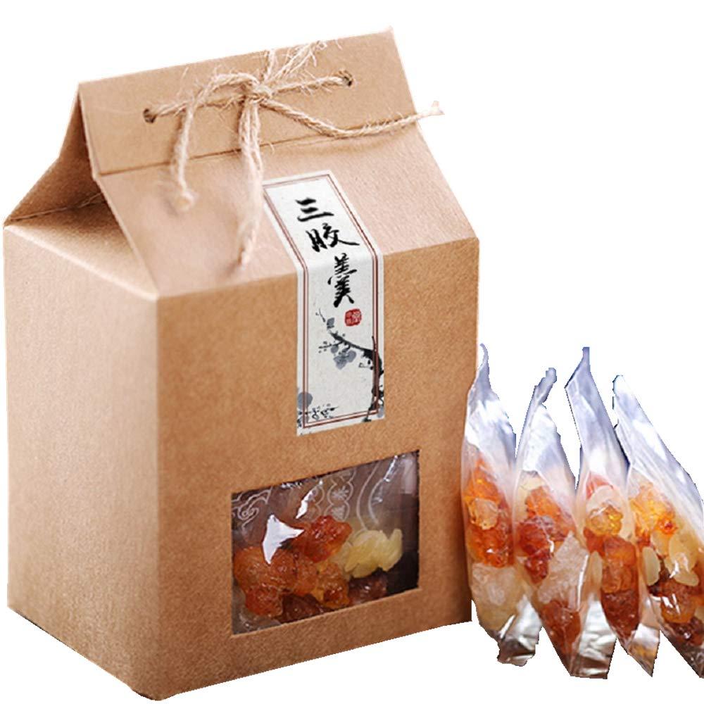 Yunnan Peach Gum(桃胶) Xueyan(雪燕) Gleditsia(皂角米) Combination Set 320g,20 Packs Can be Used 40 Times by Peach Girl