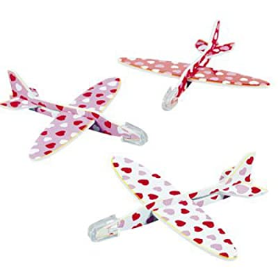 MINI HEART PRINT GLIDERS (4DZ) - Toys - 48 Pieces: Home & Kitchen