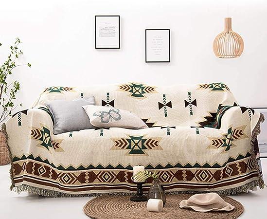 LouisaYork - Manta Protectora para sofá, Manta de sofá, cálida y Gruesa, Manta de Hilo de algodón Suave, Manta de Cama para sofá y sofá 130x180cm: Amazon.es: Hogar