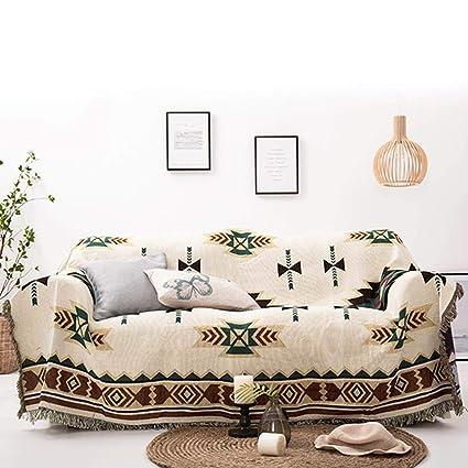 LouisaYork - Manta Protectora para sofá, Manta de sofá, cálida y Gruesa, Manta de Hilo de algodón Suave, Manta de Cama para sofá y sofá, algodón, As ...