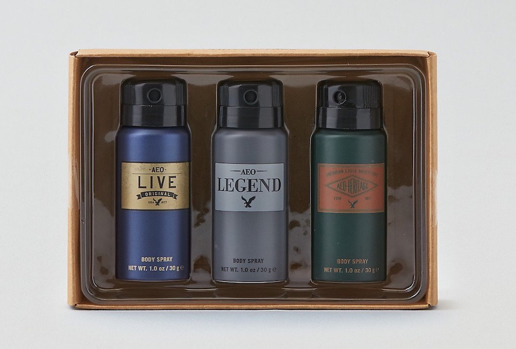 AEO American Eagle Outfitters Men Body Spray Gift Set