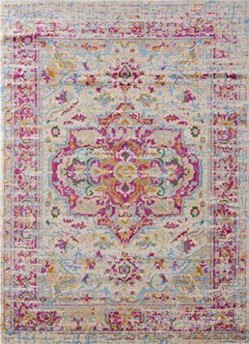 1514 Distressed Pink 5x7 Area Rug Carpet Large New