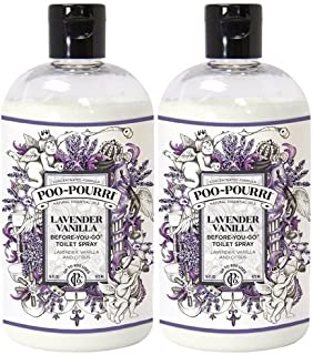 product image for Poo-Pourri Before-You-Go Toilet Spray 16-Ounce Bottle, Lavender Vanilla - 2 Packs x 16 oz