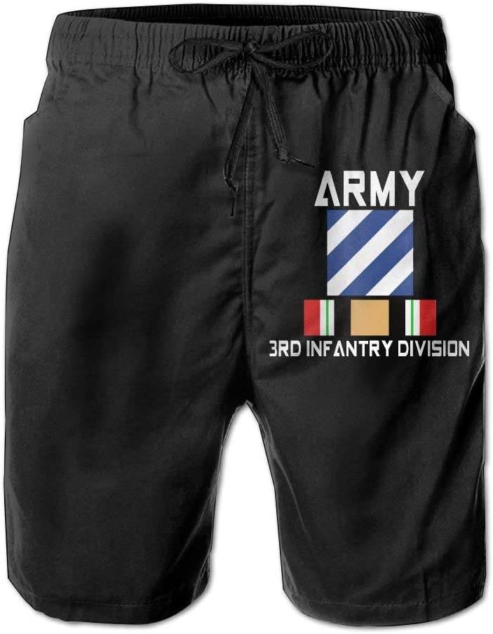 Army Cold War 3rd Infantry Division Boardshorts Mens Swimtrunks Fashion Beach Shorts Casual Shorts Beach Shorts