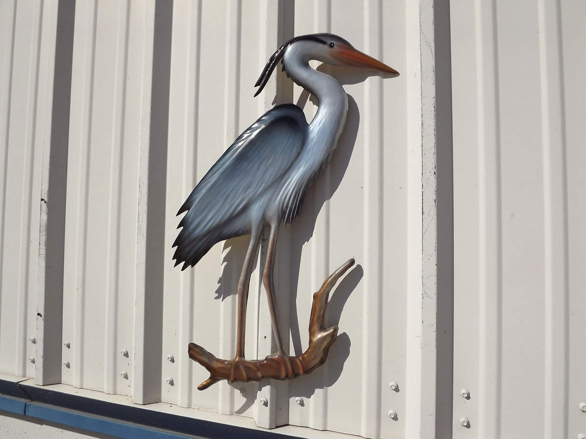 28'' Blue Heron Half Mount Replica , Fishing Wall & Coastal Decor by Mount This Fish Company (Image #3)