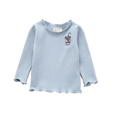 ff3de7dd8abd Amazon.com  Gotd Infant Toddler Baby Girl Solid T-Shirt Tops Clothes ...