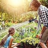 Garden Hose Nozzle, High Pressure Hose Spray Nozzle 8 Way Spray Pattern with 3.5oz/100cc Soap Dispenser Bottle Snow Foam Gun for Watering Plants, Lawn, Patio, Car Wash, Cleaning,Showering Pet