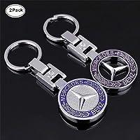 Sindapai 2PACK 3D Mercedes Benz Keychain Accessories Car Key Chain Metal  Emblem Pendant Gift for Drivers 19c2390a8677