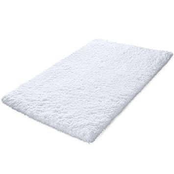Amazon Com Kmat 32x47 Inch Large Luxury White Bath Mat Soft Shaggy