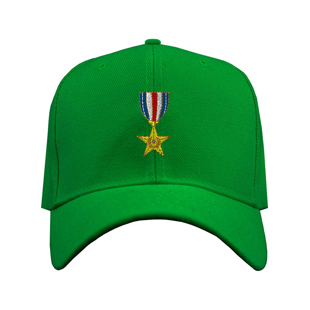 Custom Baseball Hat Silver Star Embroidery Veteran Name Acrylic Structured Cap