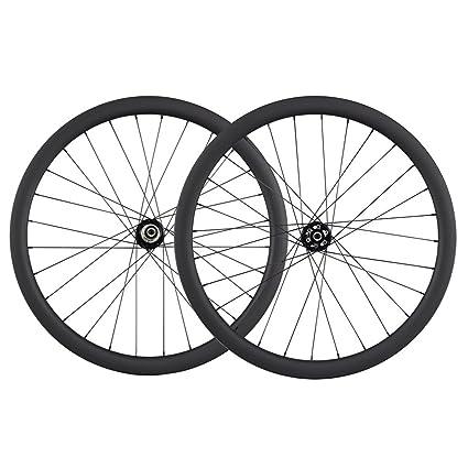 700c Disc Wheelset >> Amazon Com Ican 700c Disc Brake Carbon Wheels 40mm