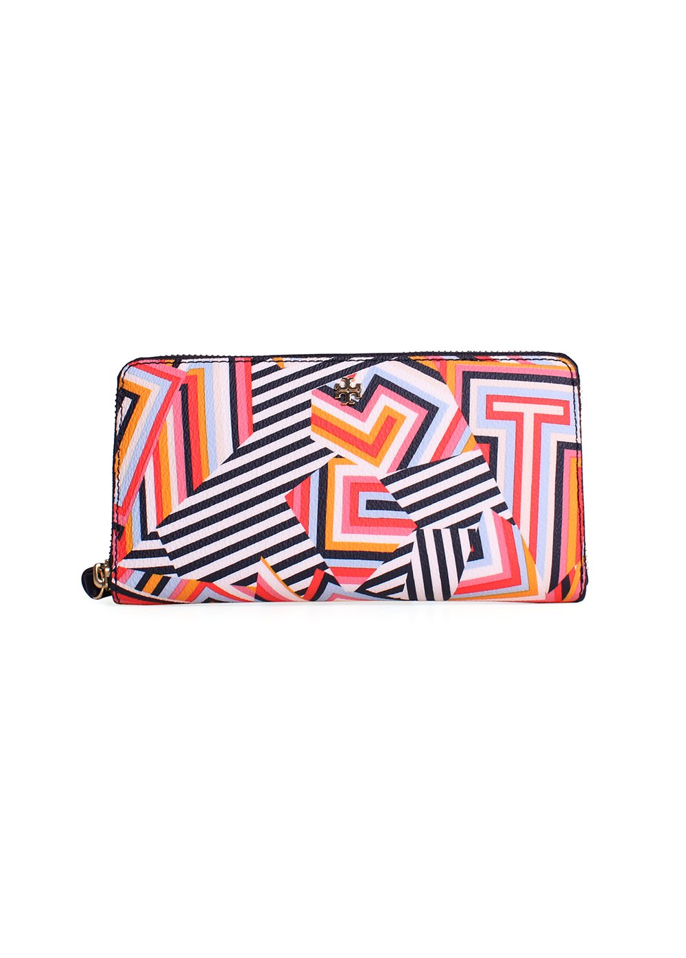 Tory Burch Kerrington Zip Around Continental Wallet Style No. 12169120 (Cut Out T Print)
