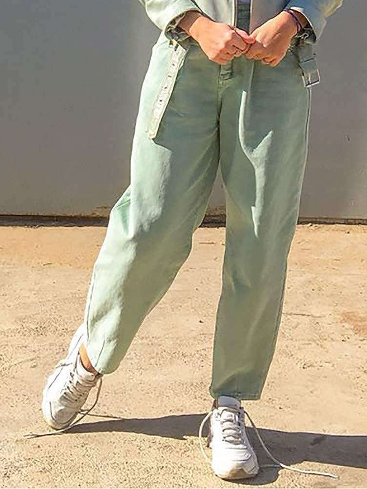 Onsoyours Donna Jeans Mom Fit Slim A Vita Alta Jeans da Donna Stile Boyfriend Pantaloni Vintage retr/ò in Denim Pantaloni Larghi Jeans