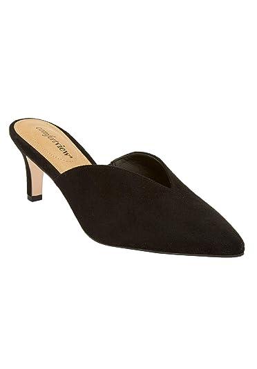 efb32882cc Amazon.com | Comfortview Women's Plus Size The Angeline Mule | Mules ...